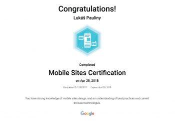 Google certifikace Mobilní certifikace