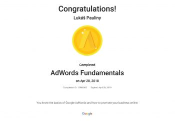 Google certifikát AdWords